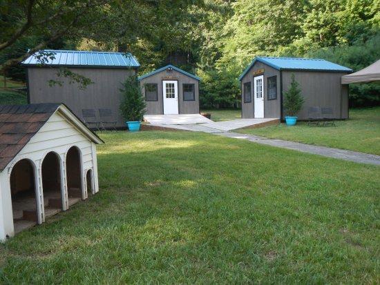 Gerton, Βόρεια Καρολίνα: Dog cabins with private rooms