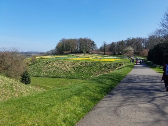 Alnwick, UK: Walking to the gardens