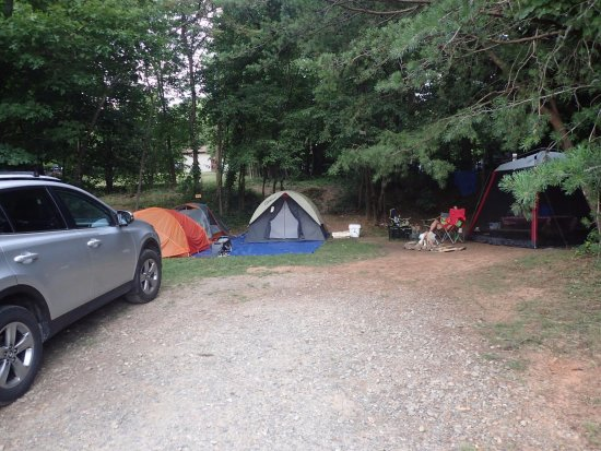 Asheville West KOA: The only non-electrical campsite on the premises.