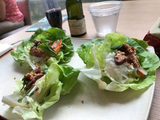 Williamstown, MA: Lamb lettuce cups