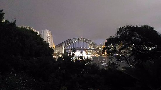 North Sydney, Australia: Vista desde Wendy Secret Garden al anochecer