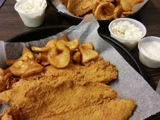 Seymour, IN: Friday Night All You Can Eat Fish. One plate is more than enough. Stuffed!