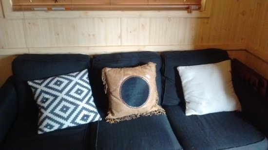Alto, NM: Comfortable sofa at Sam's cabin