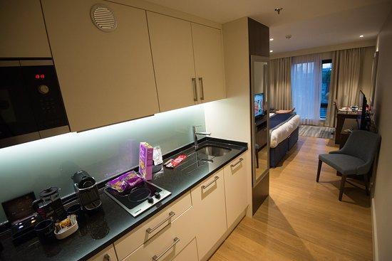 Marlin Waterloo: Kitchenette With Refrigerator U0026 Appliances.