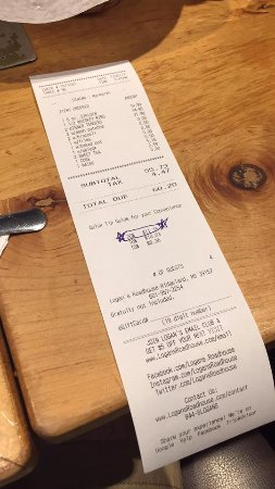 Ridgeland, MS: The waiter we had decided to circle the tip he wanted us to give him for below average service.