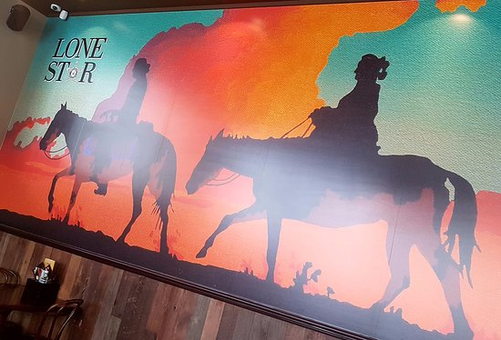 Lone Star Rotorua: Our stunning new wild west mural in our main dining area