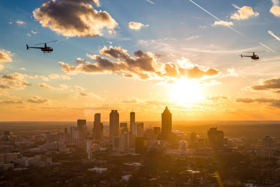 Атланта, Джорджия: Watch the sunset from the sky, with Atlanta Helicopters
