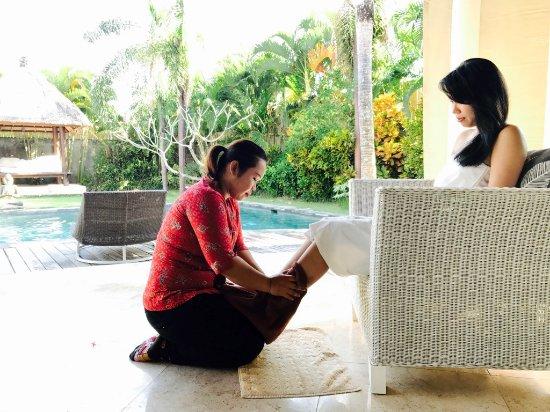 Kerobokan, Indonesië: Treat your feet