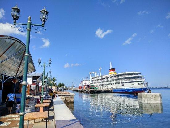 Blue ocean,  blue sky....Wonderful scenery at Pare-pare promenade