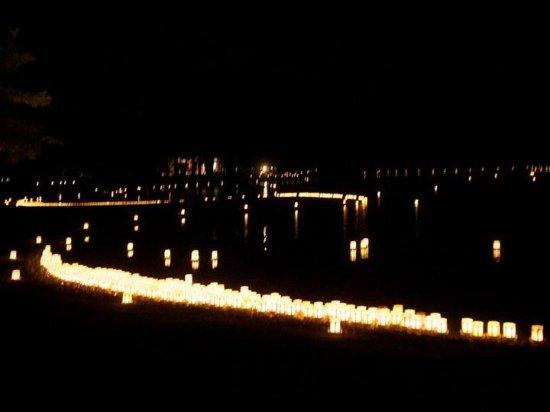 Motsu-ji Temple: 法灯会 毎年8月16日開催 時間19:00~20:30