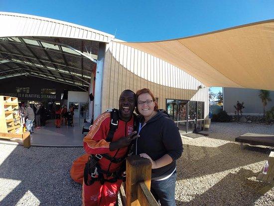 Skydive Wanaka: My Wife Wishing Me Luck!