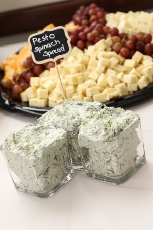Monroe, MI: Cheese and Fruit tray with Pesto Spread