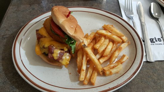 Logan, UT: Half of the Tangy Hickory burger