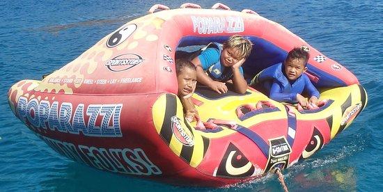 Vaiare, Fransk Polynesia: moorea bouée tractée
