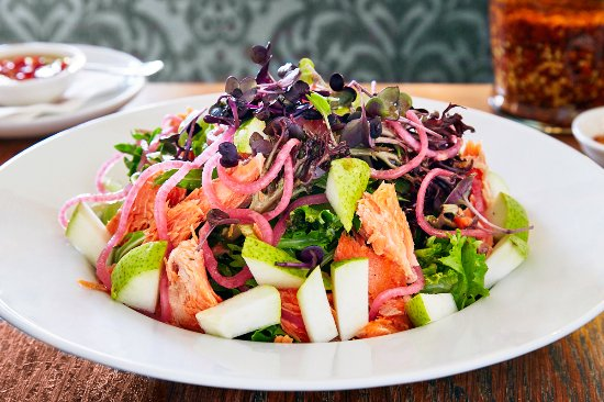 Pompei's Bondi: The Ocean Trout and pear salad (with nectarines when in season)