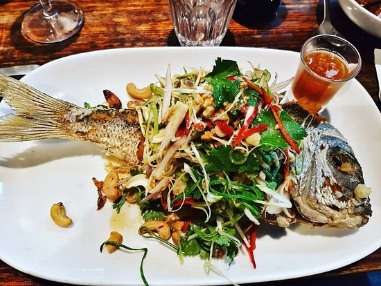 Spice I Am: Whole snapper with fresh Salad