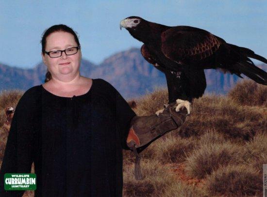 Currumbin, Australia: Holding a wedgetail eagle