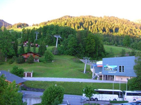 Hasliberg, Szwajcaria: pohled z okna