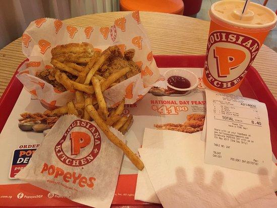 Popeyes Louisiana Kitchen: 兩塊炸雞餐