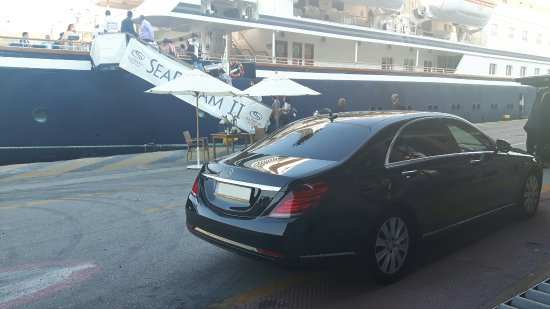 Glyfada, Greece: SeaDream II with our Mercedes S Class