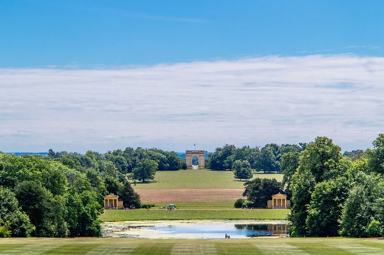 Buckingham, UK: Stowe, view south from Stowe House