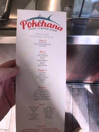 La Quinta, Καλιφόρνια: menu