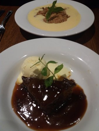 Slough, UK: Apple Crumble & Sticky Toffee Pudding