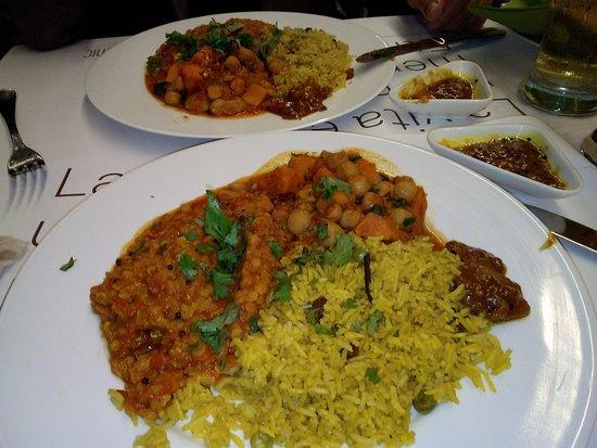 Ristorante Etnic: Riso al curry, lenticchie e ceci con verdure