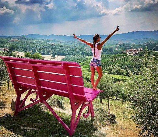 Hot Pink Big Bench