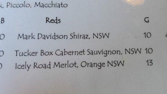 Medlow Bath, Australia: parte de la oferta de vinos