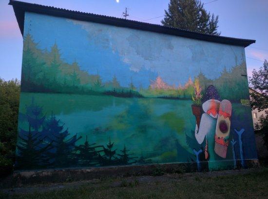 Severodonetsk, Ucrânia: mural
