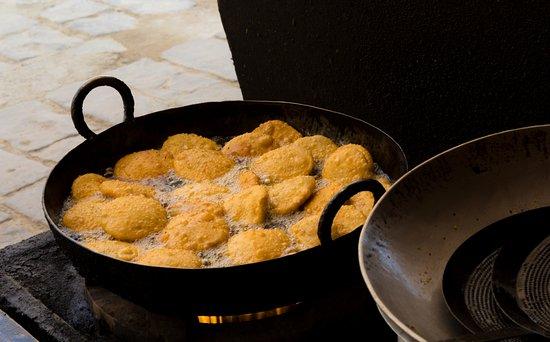 Shahi Samosa: KAchodi in Making. It is deep fried and served.