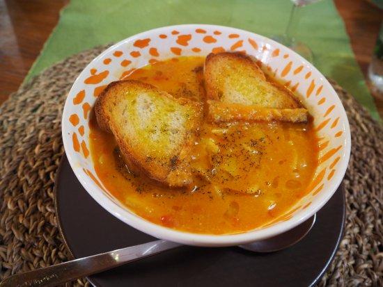 Farnese, Italy: garbanzo soup