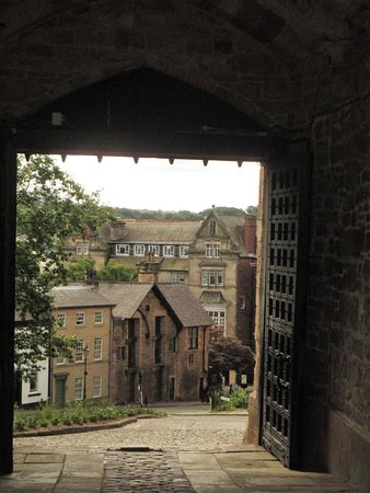 view from lancaster Castle entrance