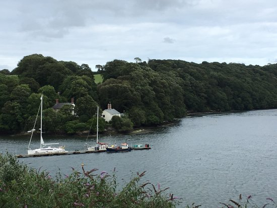 Фалмут, UK: Sunset at St Mary's and moored up in the upper reaches from Falmouth.