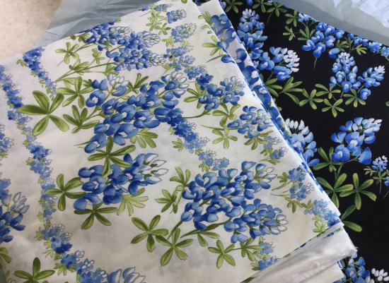 Eastport, ME: Yesterday's purchase. Beautiful Lupine fabric