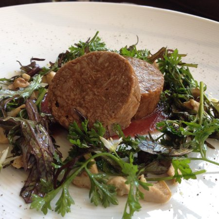 Wigmore, UK: Oxtail terrine, pickled St George's mushrooms, parmesan & oil brioche