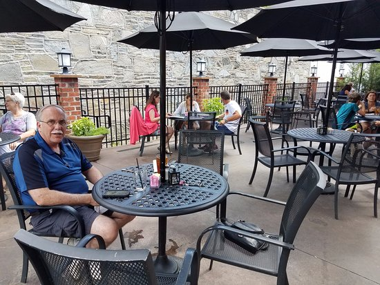 Six Pence Pub : If it's nice, be sure to snag a table on the patio. The inside is a bit cramped and divey.