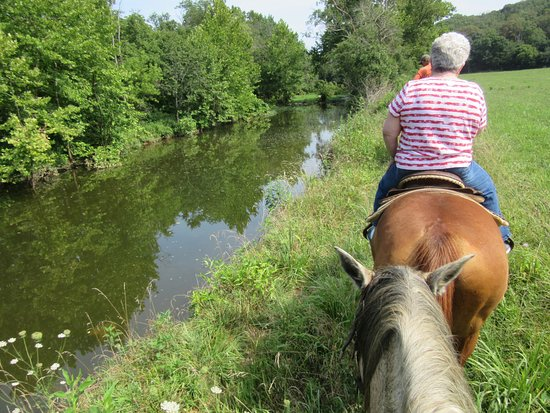 Arcadia, MO : Riding Along Stouts Creek on Meadow Trail