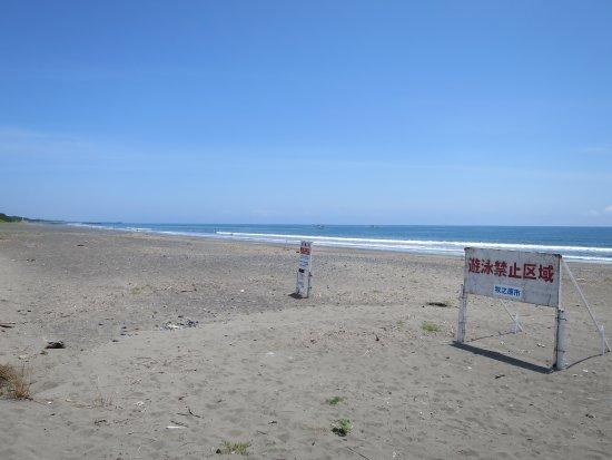 Makinohara, Japón: 遊泳禁止の看板