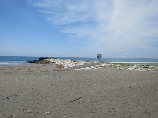 Makinohara, Japón: 分かれ目の堤防