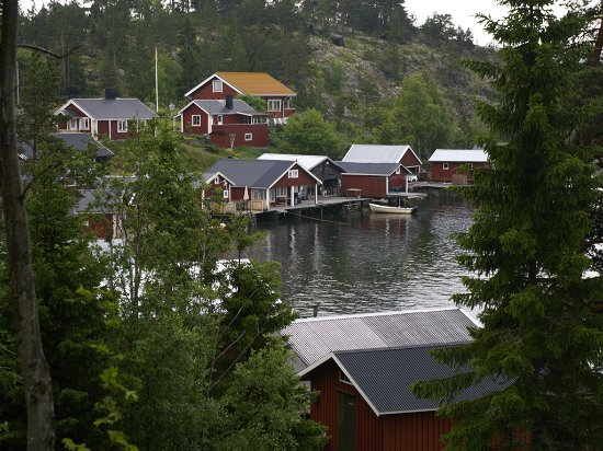Härnösand, Svezia: Osada rybacka na wyspie