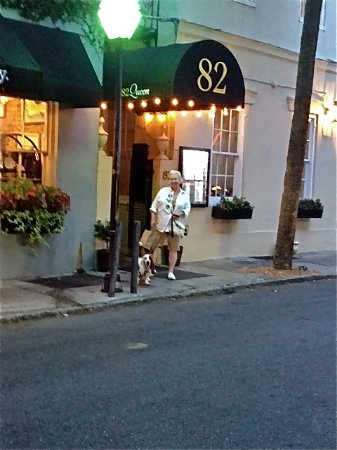 John Rutledge House Inn: 82 Queen is right around the corner about a 5 min walk. Dog friendly - make reservations early!