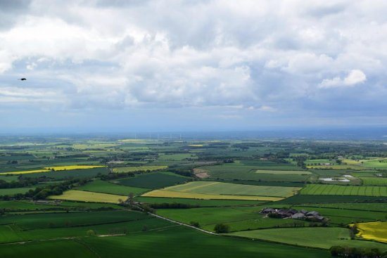 Middlesbrough, UK: View off the top of Roseberry Topping