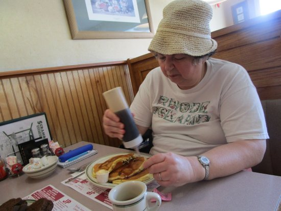 Johnston, RI: That is me eating my breakfast.