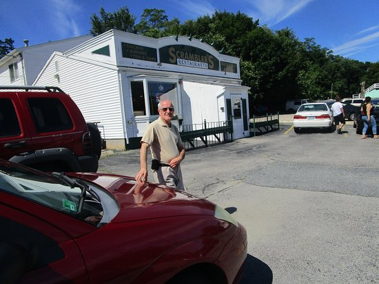 Johnston, RI: Louis standing in front of Scramblers.