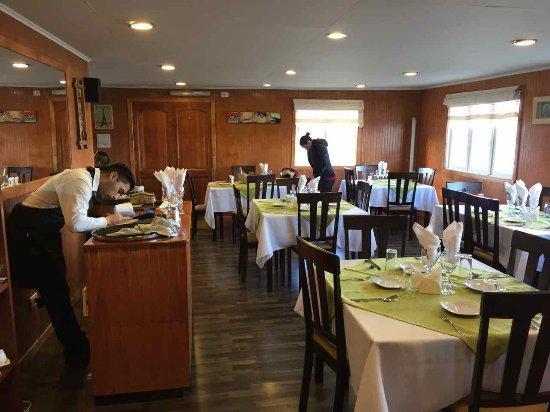 Porvenir, شيلي: L'interno del ristorante