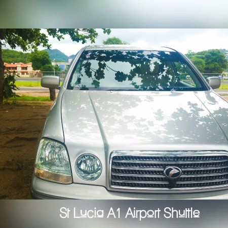 Soufriere Quarter, St. Lucia: We provide Airport Transfers in unique luxury vehicles, such as this Toyota Progress
