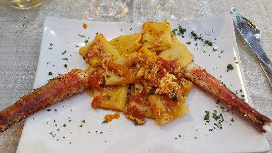 Cusano Milanino, Italy: Granchio reale fantastico