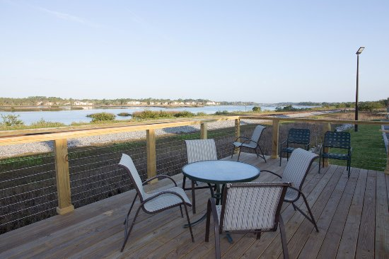 The Ponce St Augustine Hotel Relaxing Deck Overlooking San Sebastian River For A